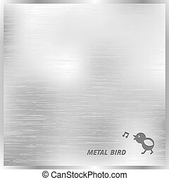 Metal texture background with stylized bird Vector eps10