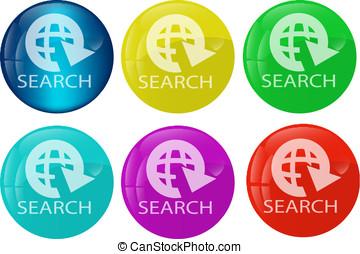 Search web button colored set