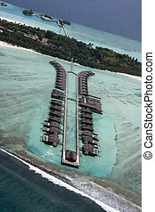 Maldives from seaplane 2 - Tropical Island paradise - the...