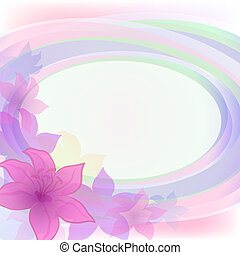 Abstract flower background - Abstract holiday background...