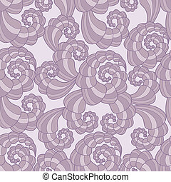 Vector seamless pattern with spiral