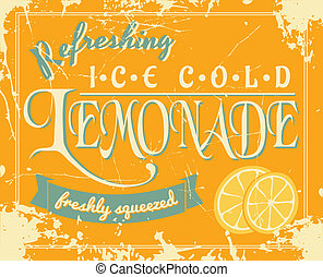 Vintage Lemonade Poster - Lemonade poster in vintage style