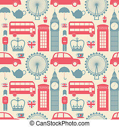 London Background - Seamless pattern with London symbols.