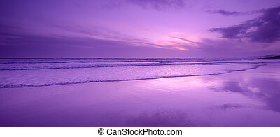Reflections on Whitsand Bay, Cornwall, UK - Sunset...