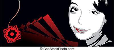 Girl Face Banner