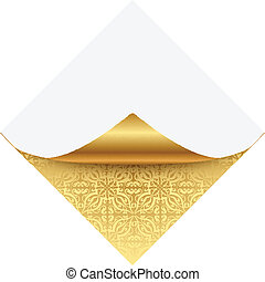Gold ornate note paper