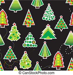 Seamless Christmas Tree Background