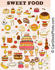 Sweets Food Set