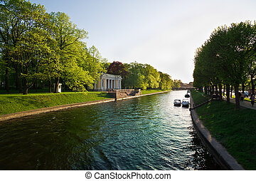 Summer canals of St Petersburg - Beautiful summer canals of...