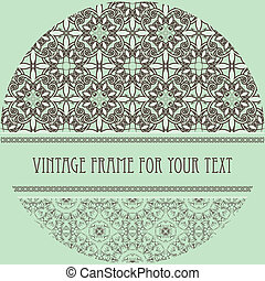 vector vintage pattern with frame for your text