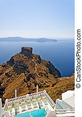 Skaros on santorini - An image from Santorini of a typical...