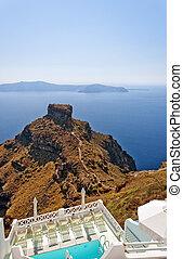Skaros on santorini - An image from Santorini of a typical...