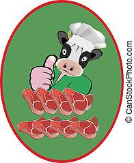 adhesivo, carne de vaca