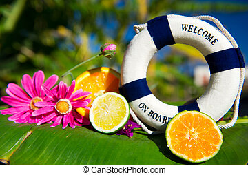 Tropical welcome on board - Welcome on board in tropical...