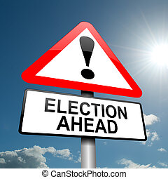 Election concept - Illustration depicting a road traffic...