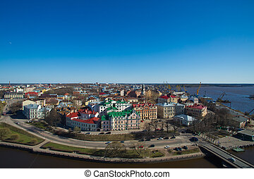 Townscape of Vyborg. Russia - Fine townscape of Vyborg from...