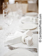 Place setting, soft focus photo