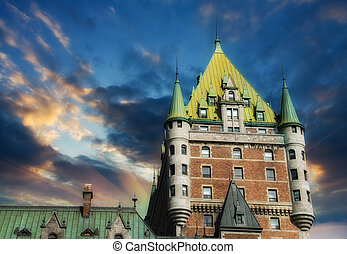 View of old Quebec and the Chateau Frontenac, Quebec,...