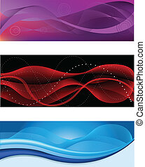 Abstract headers - A set of web abstract headers of...