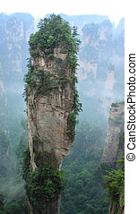 Hallelujah Mountain,zhangjiajie - A craggy peak,the original...