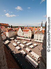 Survey panorama of Tallinn - Survey panorama of old city...