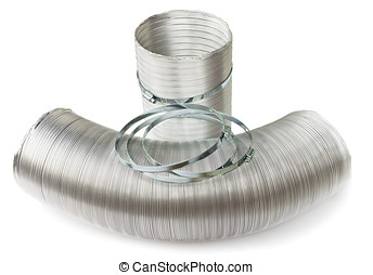 Ducts and clamps on a white background