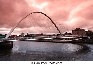 Millenium Bridge Newcastle - Dusk over the Millenium bridge...