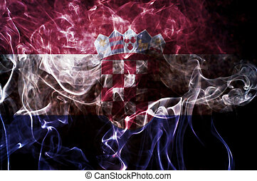 Croatia flag - Croatia flag overlay on joss stick smoke...