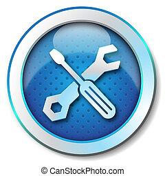 Tool repair web icon - Icon for web blue, Tool repair web...