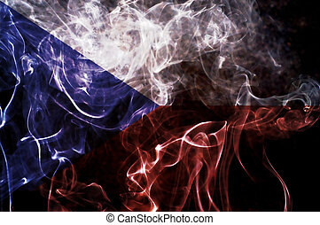 Czech flag. - Czech flag overlay on joss stick smoke...