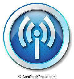 Wireless WLAN icon - Icon for web blue, Wireless WLAN icon