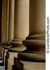 Stone Columns - The mighty stone columns stood imperiously...