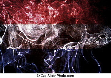 Netherlands flag. - Netherlands flag overlay on joss stick...