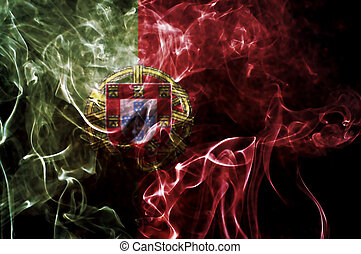 Portugal flag. - Portugal flag overlay on joss stick smoke...