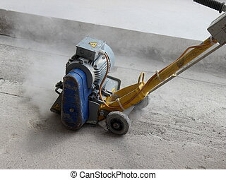 Concrete Milling Machine in action