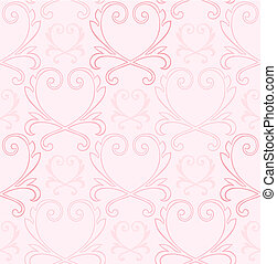 Victorian Heart Background