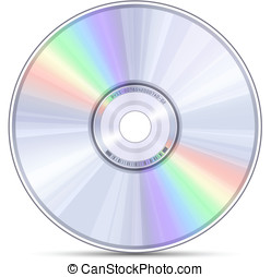 Blue-ray, DVD or CD disc Vector illustration