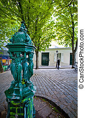 paris, france montmartre - the artists quarter of montmartre...