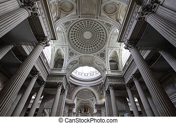 Paris - Pantheon - Paris, France - famous Pantheon interior....