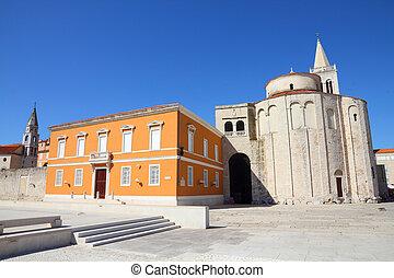 Zadar, Croatia - Croatia - Zadar in Dalmatia. Townscape with...