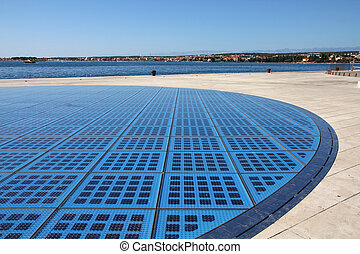Solar panels array in Croatia - Zadar in Dalmatia.