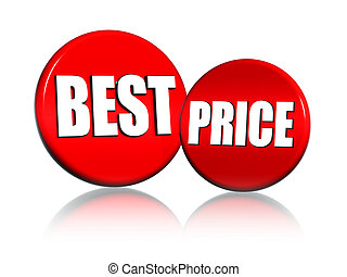 best price - 3d red circles with text best price