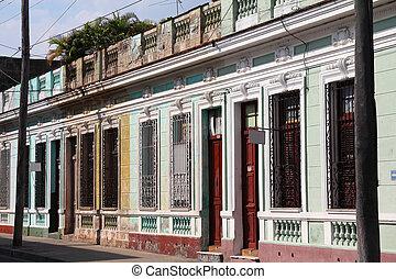 Cuba - Cienfuegos - Street view in Cienfuegos, Cuba. The old...