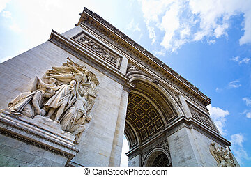 paris, paris, france. arch of triumph - the arch of triumph...