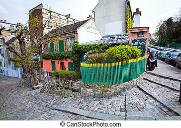 paris, france. montmartre - the artists' quarter of...