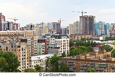 Samara on top. A typical architecture of the city center. Russia