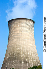 Cooling Tower at a power plant.