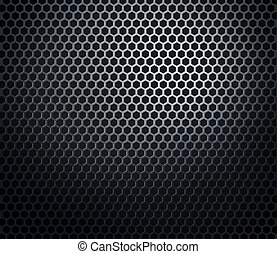 Hexagonal metal honeycomb grid