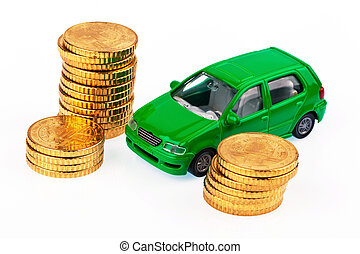 model car and coins car costs - a model car and coins...