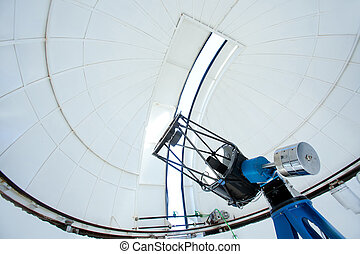 Astronomic observatory telescope in a dome - Astronomic...